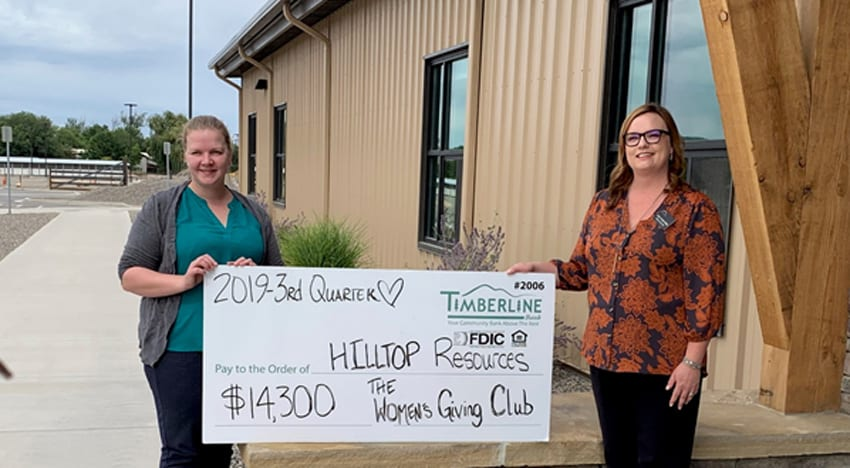 Womens Giving Club donates $14,300 to Hilltops Latimer House